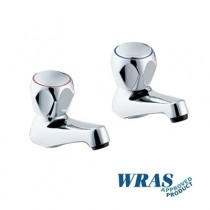 4100/D - Hot and Cold Basin Taps With Tricon Heads (Pair)