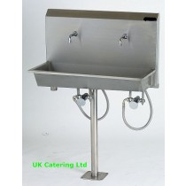 Wall Mounted Knee Operated Wash Trough