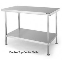 SCT965 Double Top Stainless Steel Centre Table