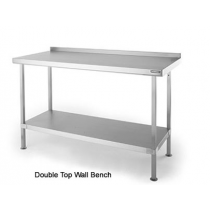 SWB96 Double Top Stainless Steel Wall Table