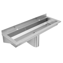 SANX120 Wall Mounted Wash Trough With Tap Ledge