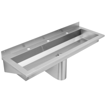 SANX180 Wall Mounted Wash Trough With Tap Ledge