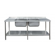 Die Pat Sink Unit - 1800 x 650 Double Bowl, Double Drain